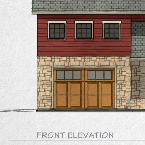 Home exterior rendering