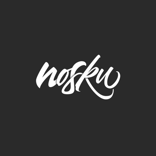 Custom Hand-Lettered Logo-Type for Noksu