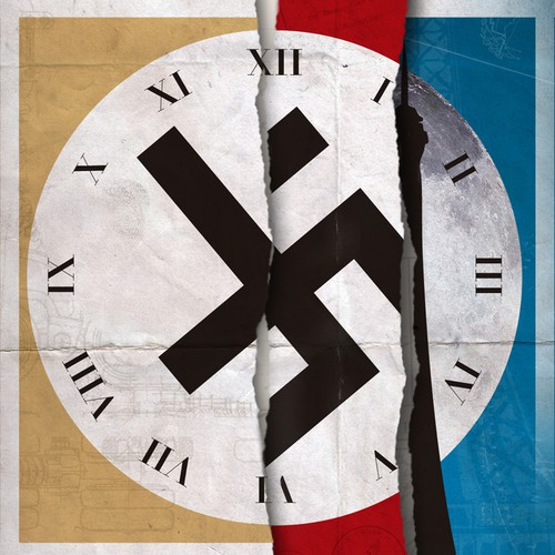 Create a book cover for a smart globe-spanning thriller with a Nazi element.