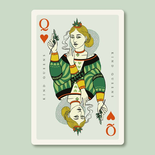 Cannabis Playing Card Design