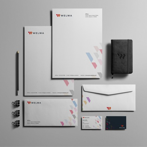 Logo and brand concept for welwa; high end management consulting for B2B companies