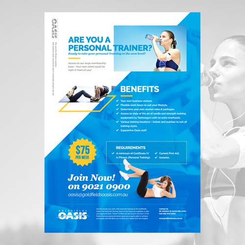 Poster Concept for Personal Training