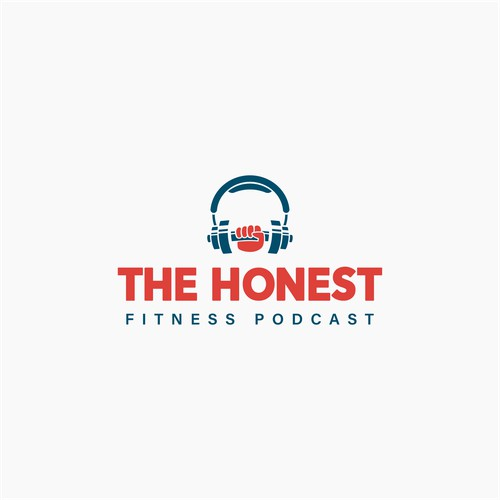 Powerful logo for The Honest Fitness Podcast