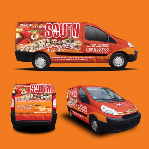 Vehicle Wrap Design for South Catering