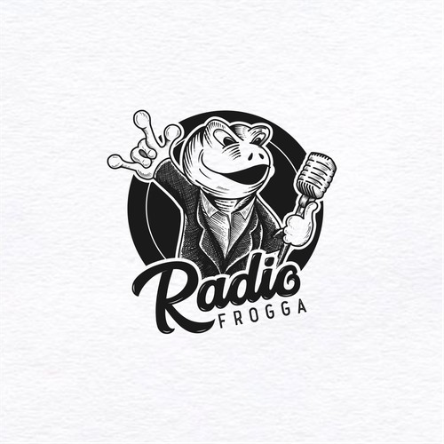 logo for radio frogga