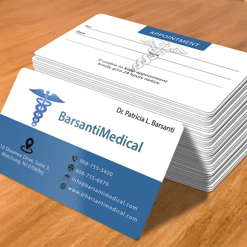 Create a visually stunning business card for Medical Office