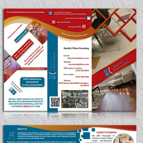 brochure design for Hardy's Floor Covering