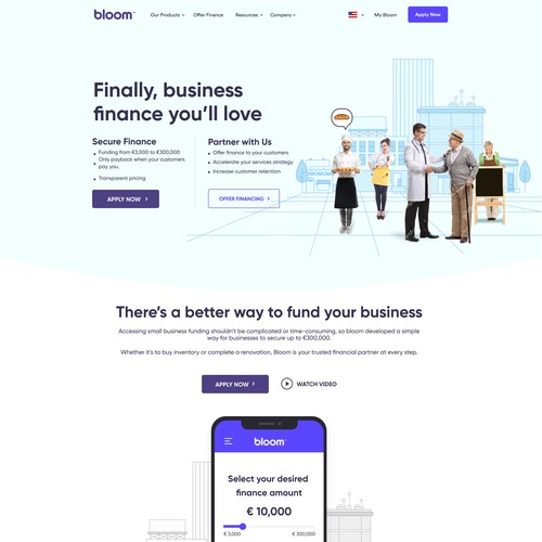 Fast Business Finance WebLayout