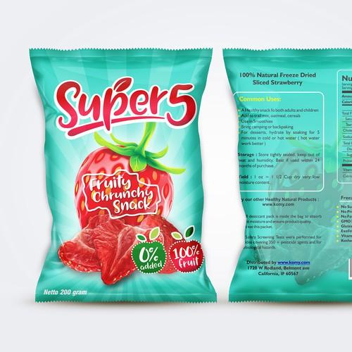 Super 5 Fruits Snack Pakaging