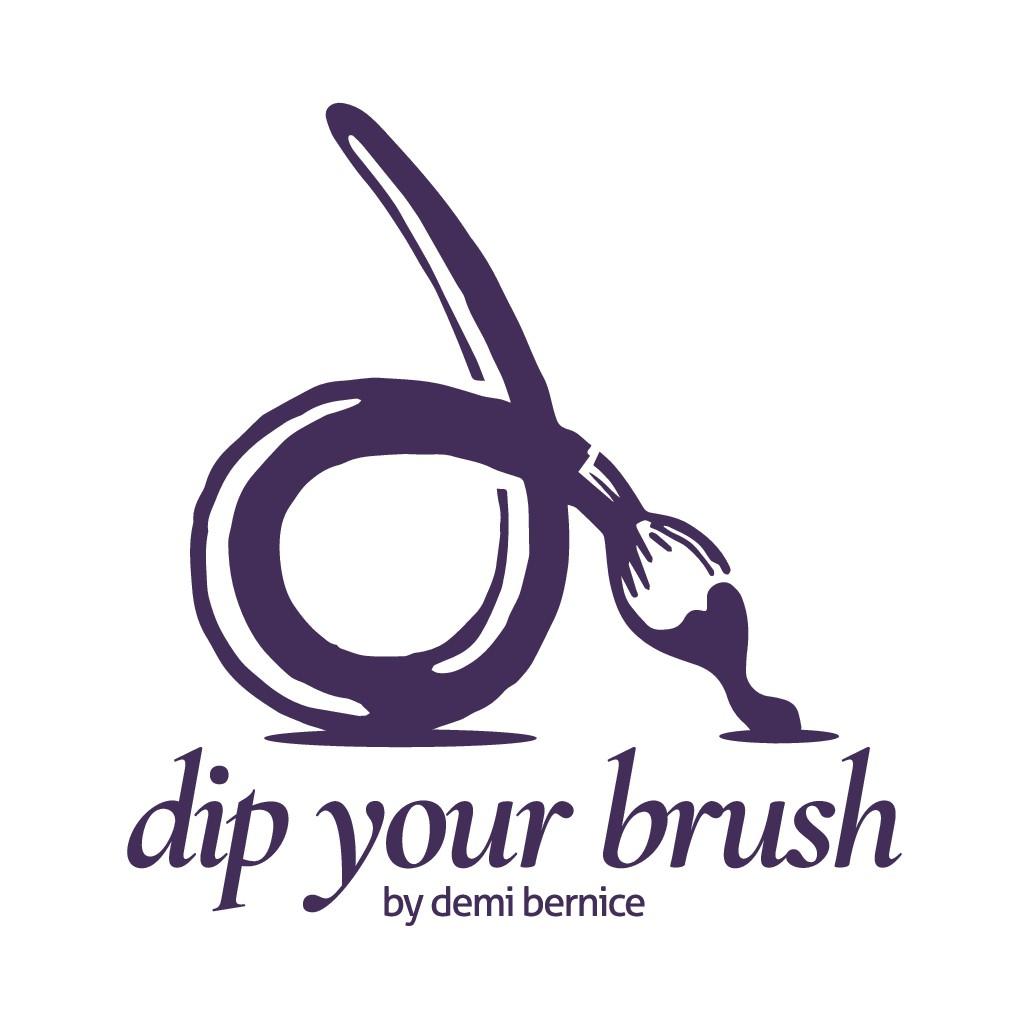 Dip Your Brush Logo for Creatives