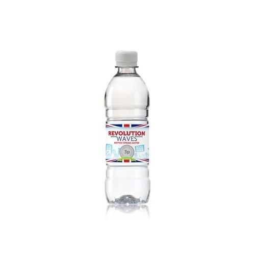 A water bottle label