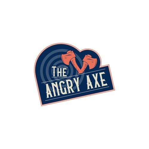 Axe Throwing Business Logo