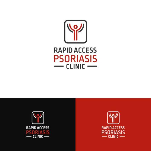 Modern iconic logo for a dermathology clinic