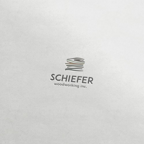Clean logo for woodworking company.