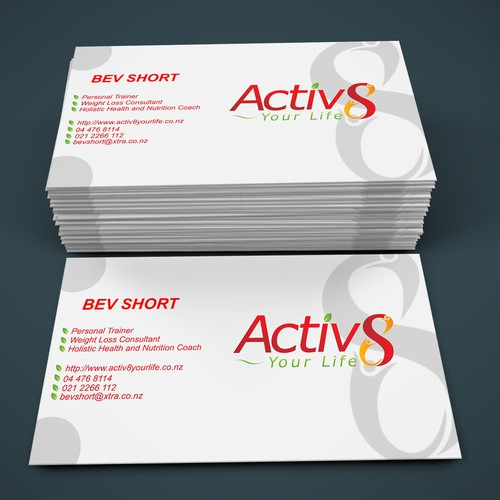 Healthy lifestyle business card design