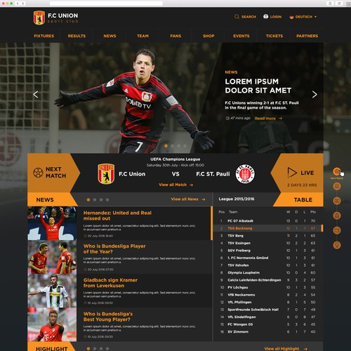 football club website