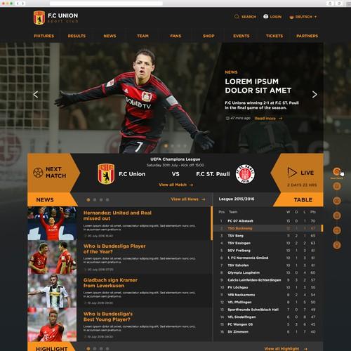 football club website