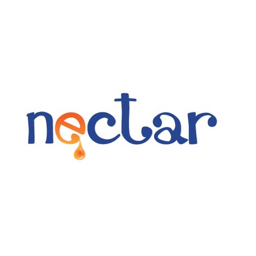Create a logo for NECTAR, an organic juice, smoothies, sno-cones, & snack bar.