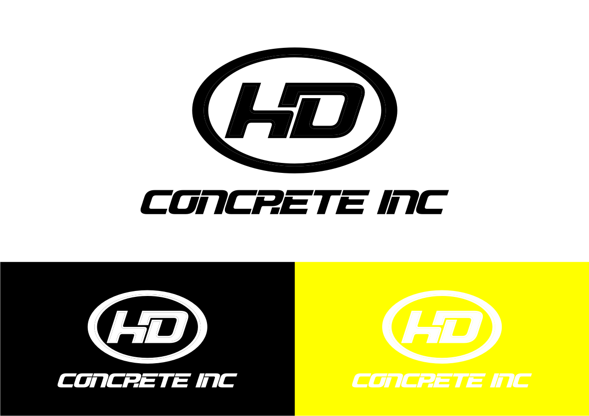 Create a winning logo for HD Concrete Inc.