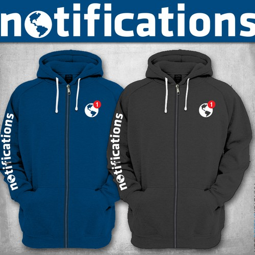 Hoodie design for Facebook's Notification team