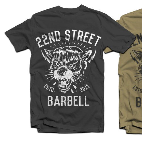 Tough Looking Design for Gym Merchandise