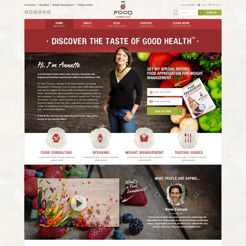 Website for food sommelier