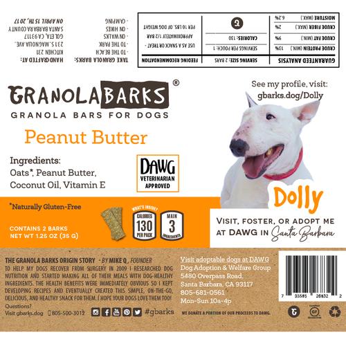GranolaBarks packaging design