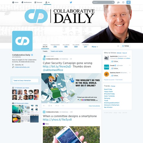 Collaborative Daily (Twitter Background & Icon Enhancement)