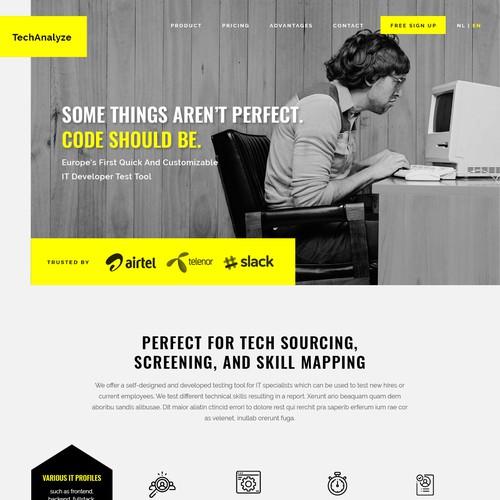 Fun and minimalist IT Site