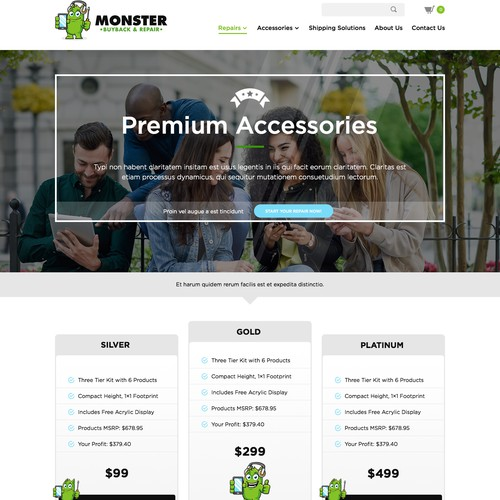 Wholesale Business to Business Landing Page for Smartphone Accessories