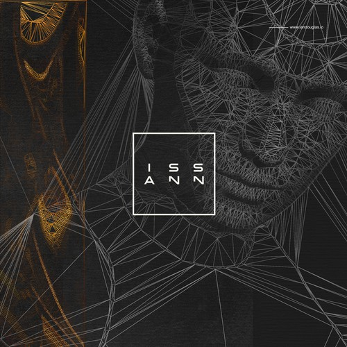 Wordmark and cover art for ISSAN, electronic music artist