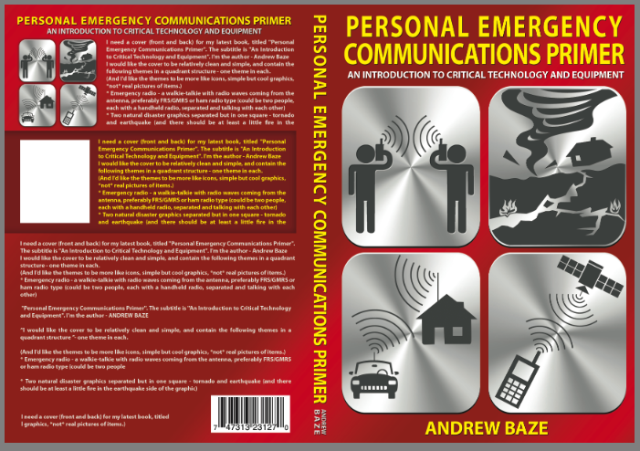 """Create a simple book cover for the book """"Emergency Communications Primer"""" (Max Publications)"""