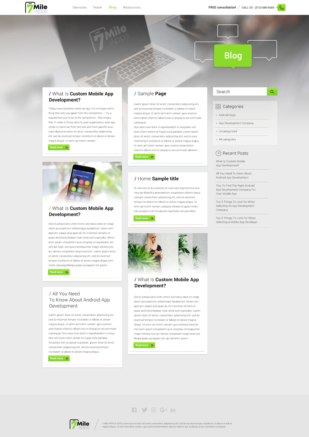 App Agency Website - Final Pages