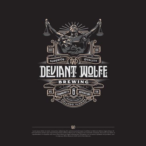Deviant Wolfe Brewing - Logo