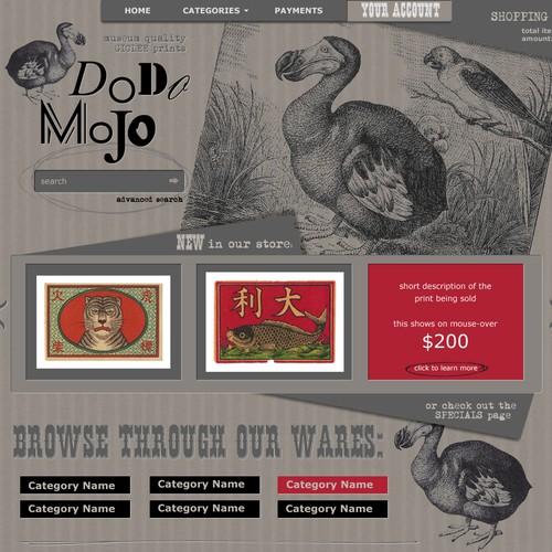 website design for art store