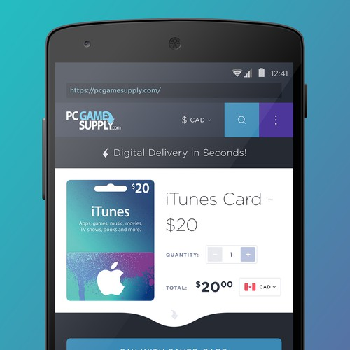 Digital Gift Card Platform - Product Page