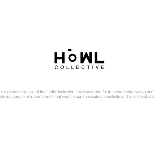 Create a clever and captivating logo for the photo company, HOWL Collective