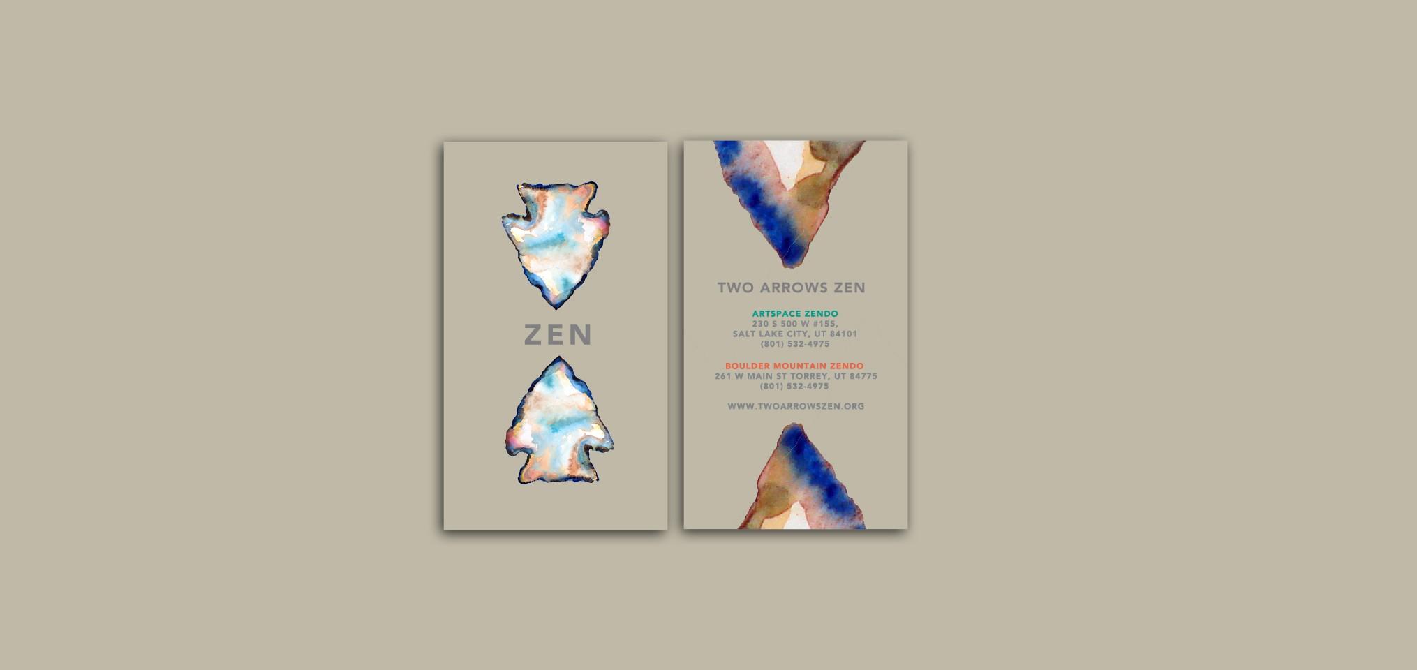 Enlightened Logo for Modern Retreat, Two Arrows Zen
