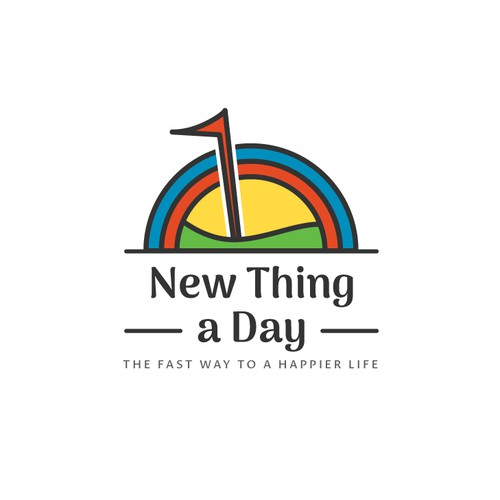 "Warm and Inviting logo for ""1 New Thing a Day"""