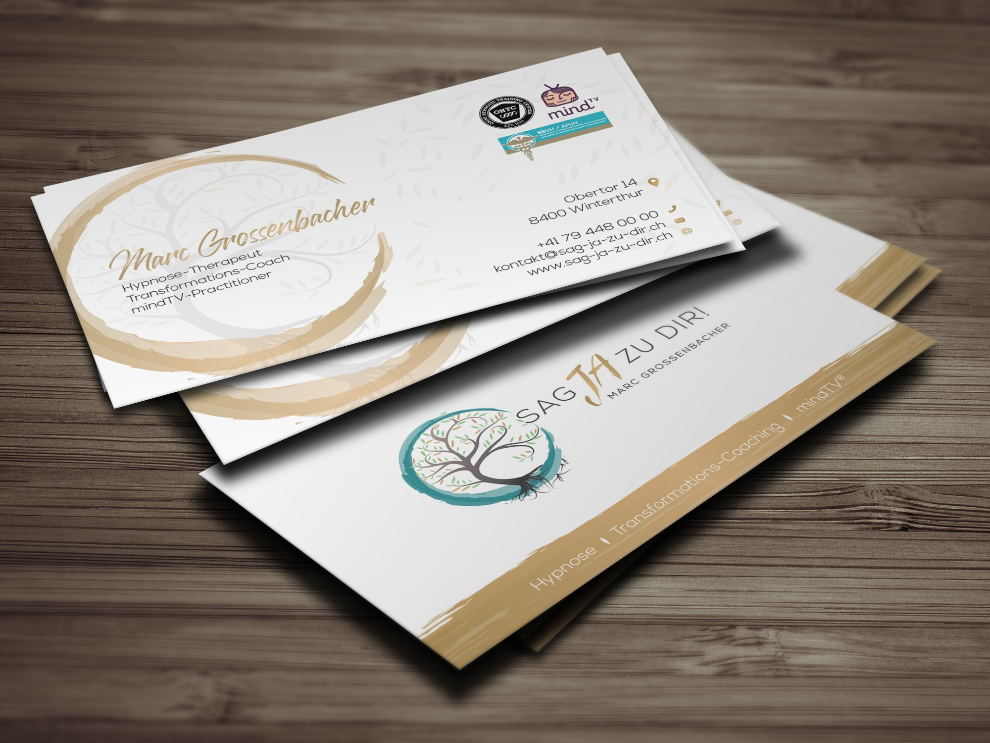 Stylish, harmonious business card (personality development in the higher price segment)