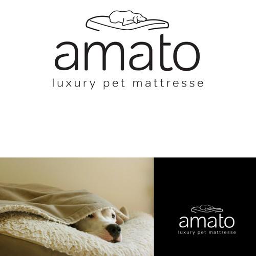 AMATO modern/luxury dog bed logo