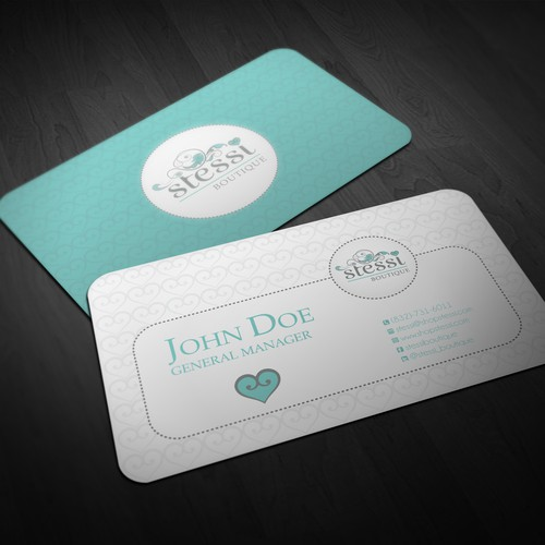Beautiful Biz Cards needed for online fashion boutique, Stessi!