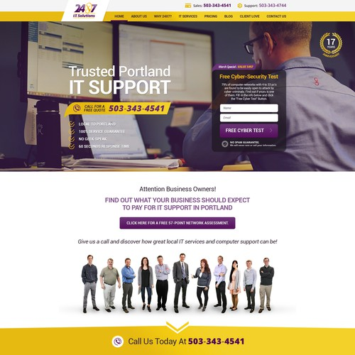 Complete Redesign of www.24x7it.com - 50+ pages