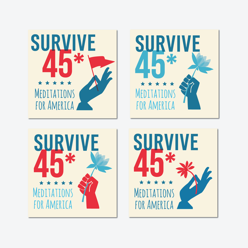 Design Iconic Logo for 'Survive 45' Anti-Trump Mediation Podcast