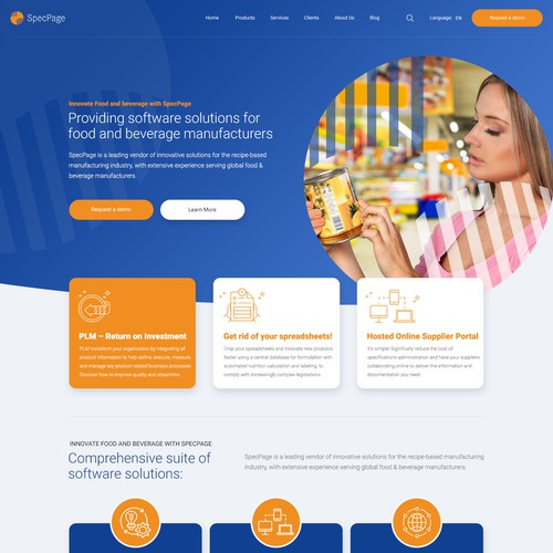 WordPress theme design for a innovative software company