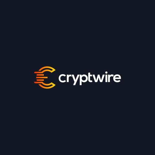 Cryptwire logo | Apps logo | Candlestick Logo | Chart logo | Crypto Logo | Crypto Currency Logo | Monogram Logo | Modern Logo