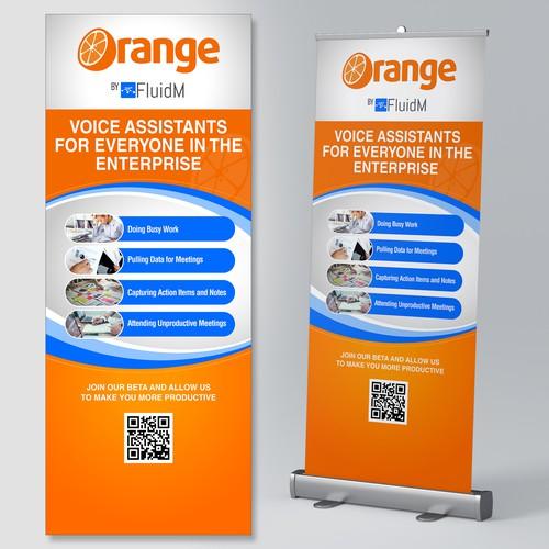 Orange Trade Show Banner