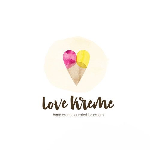 Love Ice Cream Logo for Love Kreme