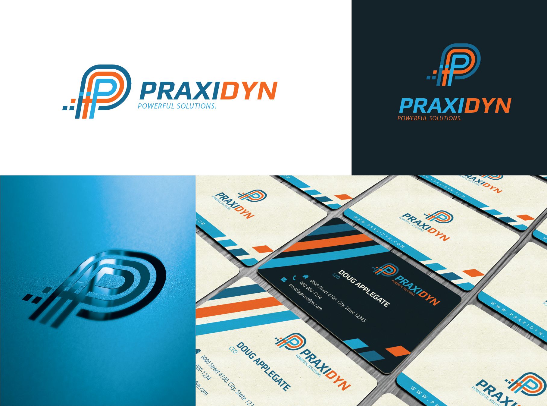 New identity for: Praxidyn      Practical Ideas. Powerful Solutions.