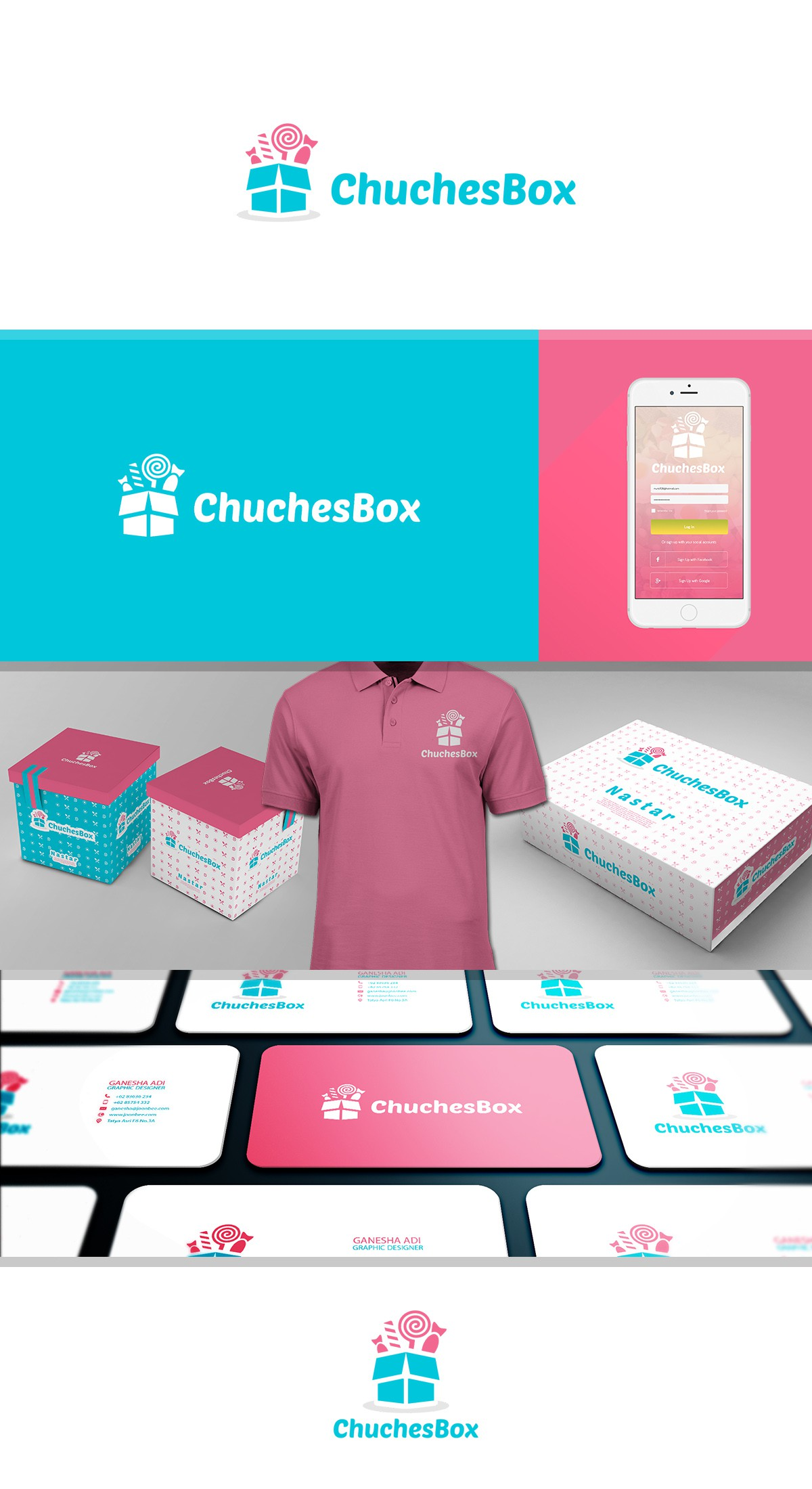 Create a logo to sweeten your life with a special box